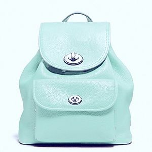 COACH Mini Turnlock Backpack Rucksack Purse